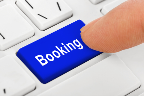 Booking Button on Computer